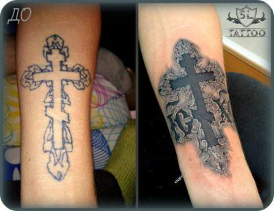 Что означает татуировка в виде перевернутого креста
