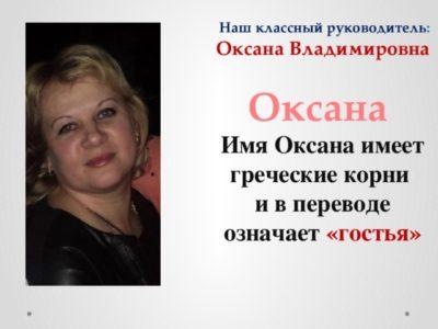 Что означает имя Оксана по церковному