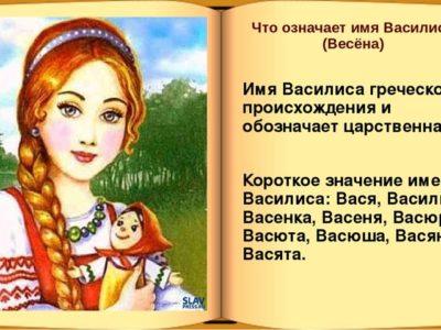 Что за имя Василина