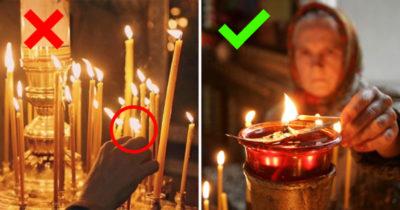 Как ставить свечки в храме