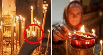 Что означает когда мы ставим свечи в церкви