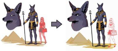 Как изображали бога Анубиса