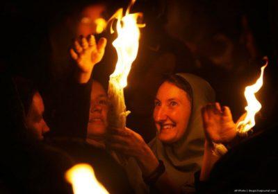 Где зажигается огонь на Пасху