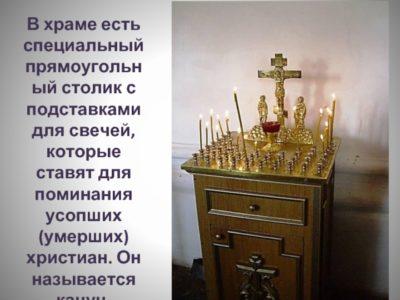 Куда ставить свечи в церкви
