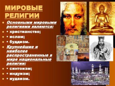 Сколько мировых религий в мире